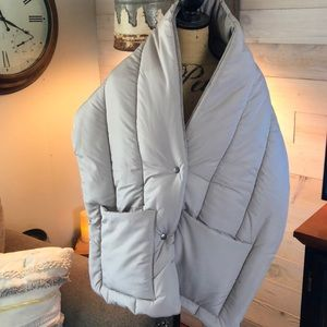 Cost Plus World Market puffer wrap. OS